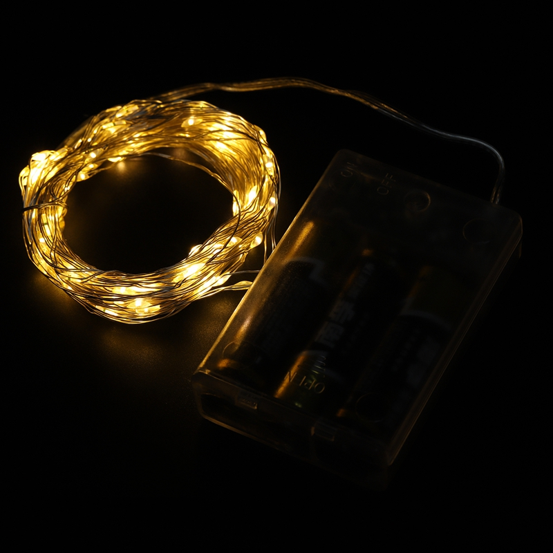 Fairy-Lights-AA-Battery-Powered-10M-100-Leds-Silver-Led-Copper-Wire-String-X7F2 thumbnail 17