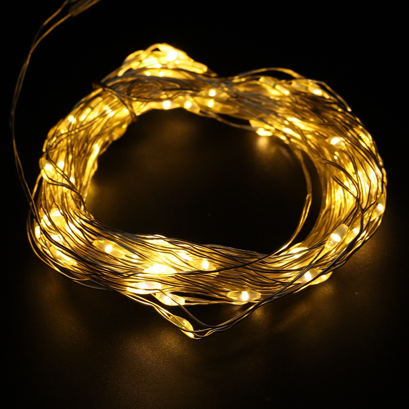Fairy-Lights-AA-Battery-Powered-10M-100-Leds-Silver-Led-Copper-Wire-String-X7F2 thumbnail 18