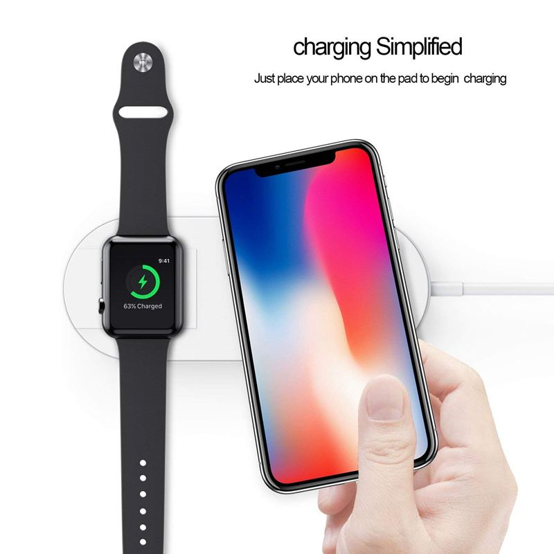 fuer apple watch ladegeraet qi wireless fast charger. Black Bedroom Furniture Sets. Home Design Ideas