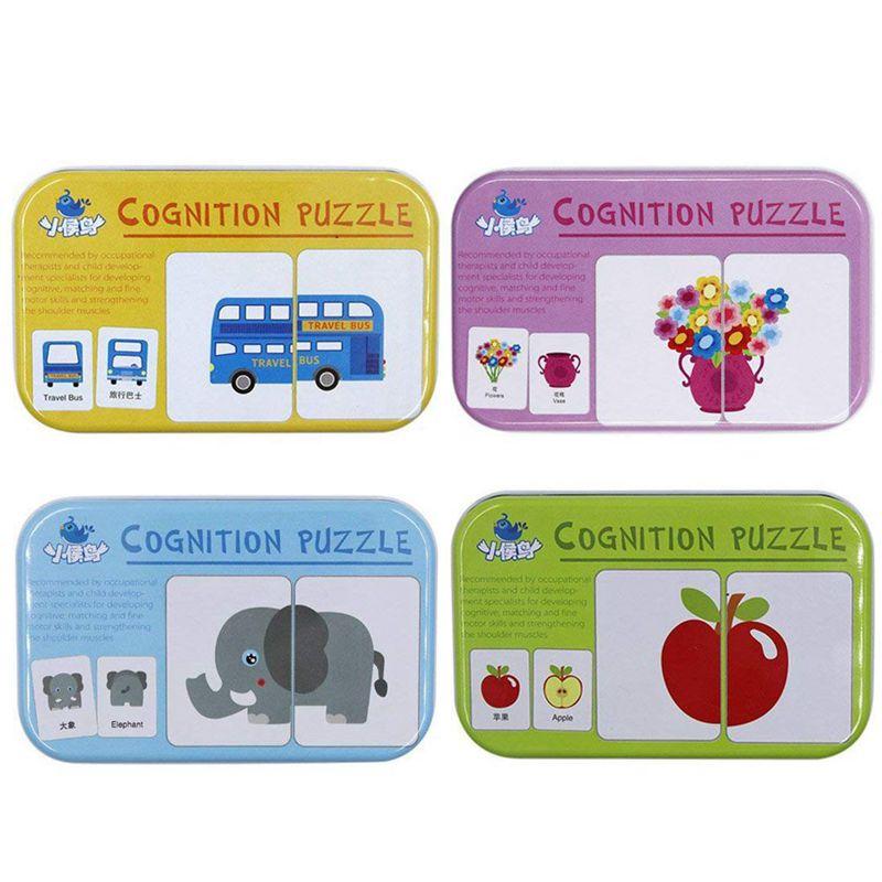 5X (32PCS FLASH CARD Learning Alfabeto Puzzle Puzzle corrispondenti presto developp 3Z6)