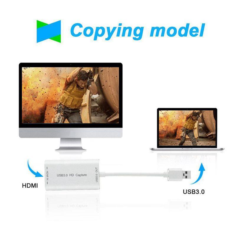 HDMI-to-USB-3-0-Carte-de-capture-Dongle-pour-appareil-1080P-Adaptateur-vide-Y5C8 miniature 6