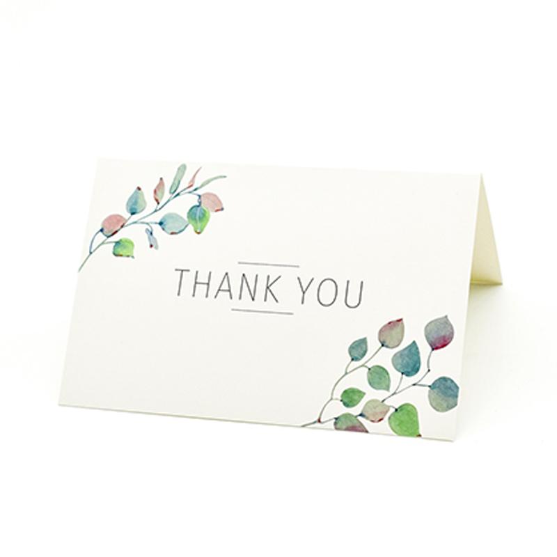 9x (merci-cartes  36 emballages différents-Élégant Motif Floral Vert & Noir c8