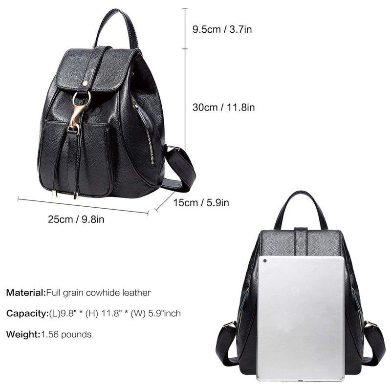2dd6c0f6d849 Leather Backpacks Purse for Women Ladies Fashion Travel Shoulder Bag ...