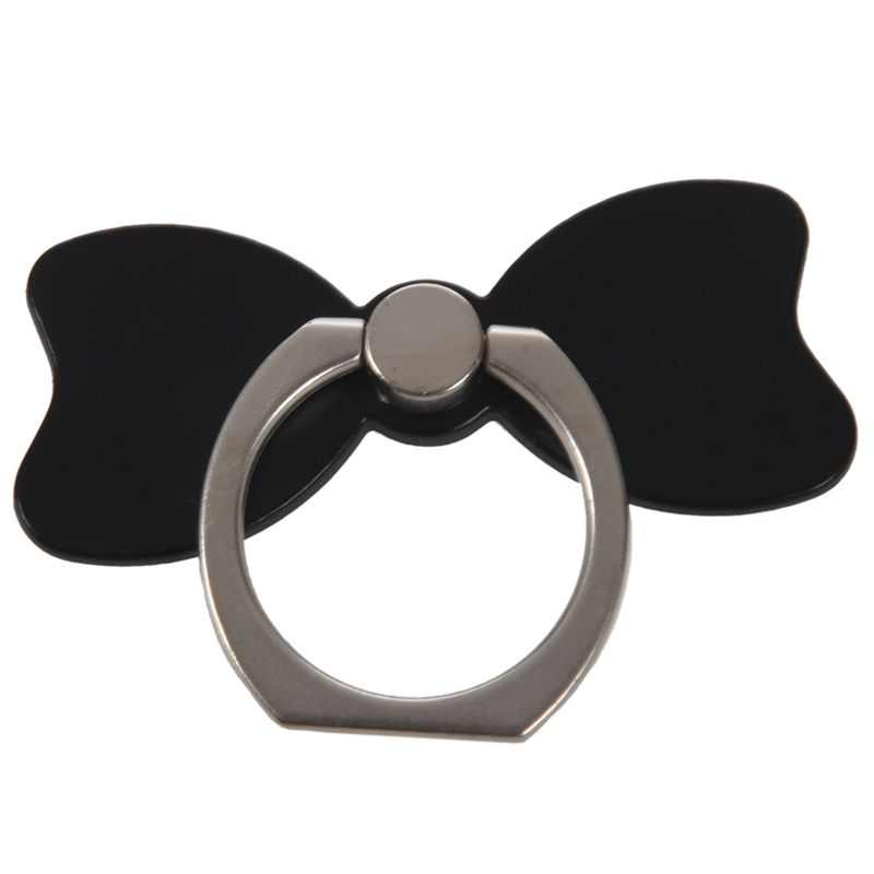 Cute Bow 360 Finger Ring Mobile Phone Stand Holder Hook Phon