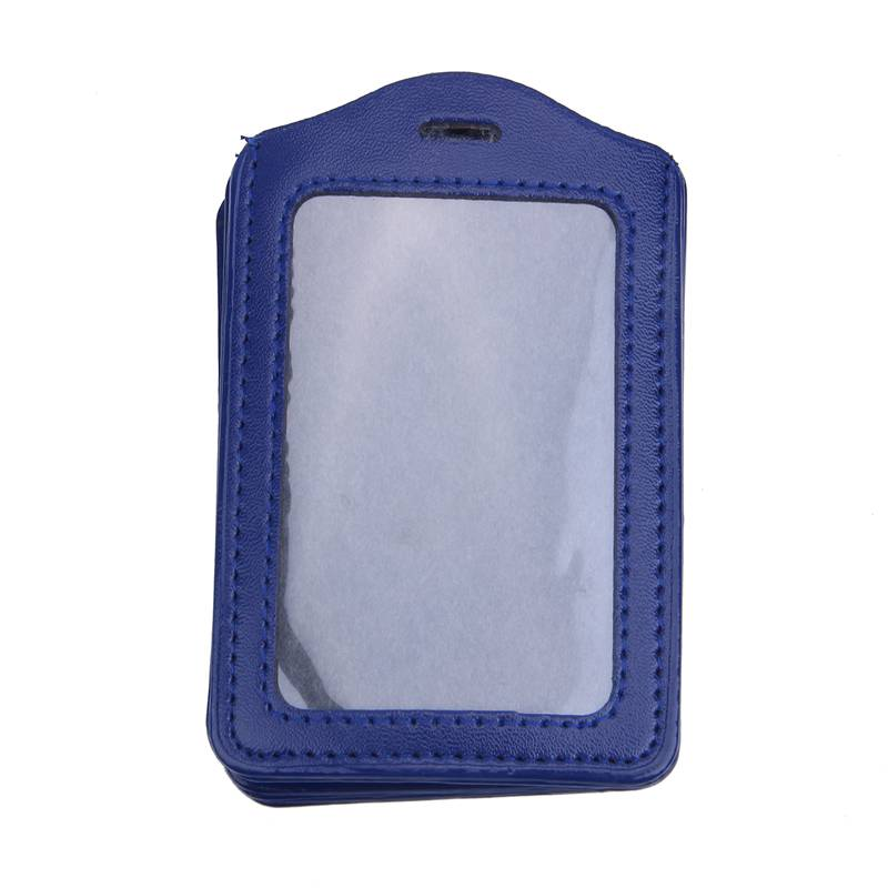 10Pcs-PU-Leather-Pocket-ID-Card-Pass-Badge-Holders-Case-With-Neck-Strap-Lan-G5P4 thumbnail 3