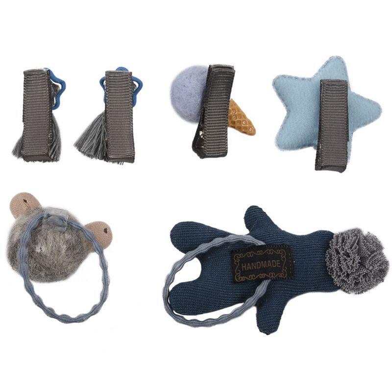 1-set-of-6pcs-cute-fabric-bear-Pentagram-Icecream-set-of-hairpin-combo-birt-V5O2 thumbnail 3