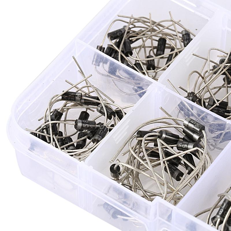 200 Stuecke 10-Wert Gleichrichterdioden-Klassifizierungskit 1N4001 1N4002 1N GY
