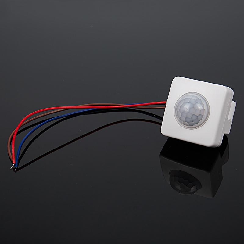 Haute-qualite-automatique-PIR-85-265V-securite-PIR-capteur-de-mouvement-inf-X9H9 miniature 9