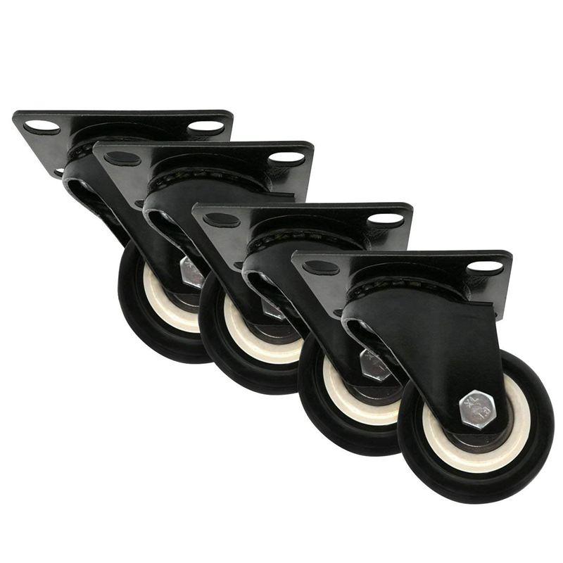 4 X 2 inch//50mm All Swivel Castor Wheels Holds 100kg Plastic Rubber H4O8