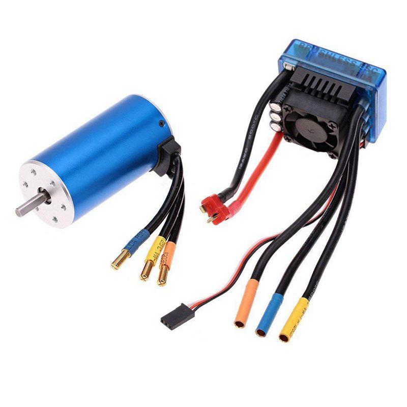 2X(3670 1900KV 4P Sensorless Brushless Motor with 120A Brushless ESC(Elect  R6T8)  outlet in vendita