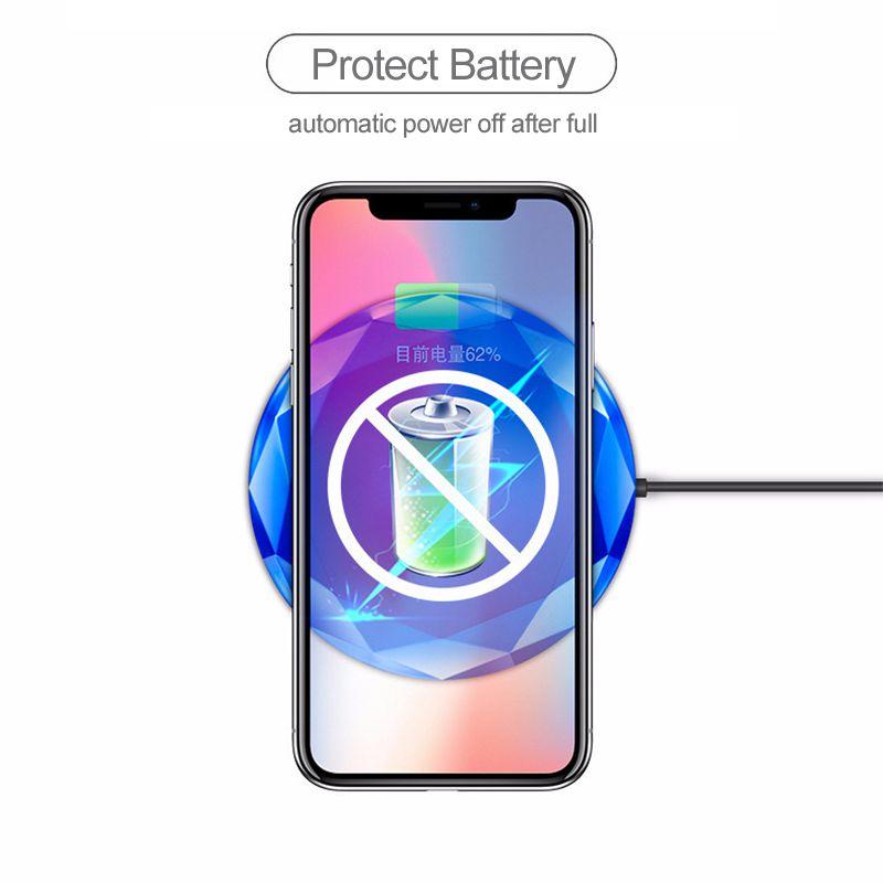 1X-Neues-Innovatives-Diamant-Modell-Kabelloses-Ladegerat-fuer-iPhone-x-8-QM3W3 Indexbild 5