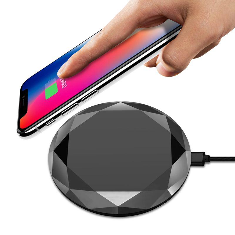 1X-Neues-Innovatives-Diamant-Modell-Kabelloses-Ladegerat-fuer-iPhone-x-8-QM3W3 Indexbild 18