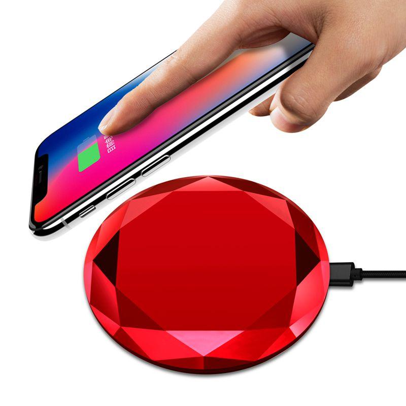 1X-Neues-Innovatives-Diamant-Modell-Kabelloses-Ladegerat-fuer-iPhone-x-8-QM3W3 Indexbild 27