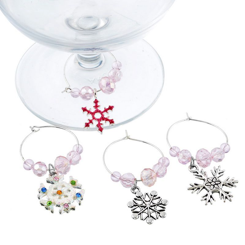2X-Mixed-6pcs-Christmas-Pendants-Wine-Glass-Charms-Marker-Tag-Set-with-Gift6C3 thumbnail 4