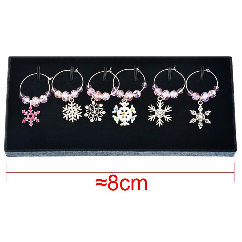 2X-Mixed-6pcs-Christmas-Pendants-Wine-Glass-Charms-Marker-Tag-Set-with-Gift6C3 thumbnail 7