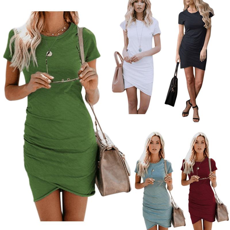 Corto Manica Body 2x Con donne Solido Colore Irregolare Maglietta jqSUVpzLMG