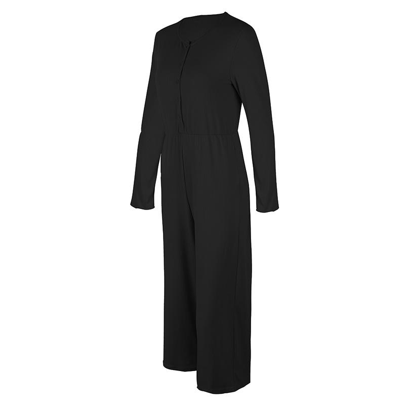lunghi o elasticizzato collo alta con collo a vita 1x donna pantaloni da a Looq9x6 manica lunga 5cBw7qUg