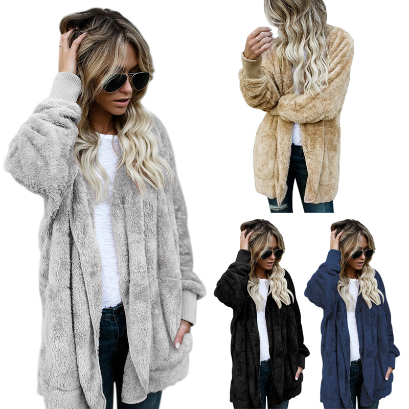 2X-Manteau-Veste-SurdimensionnE-D-039-automne-D-039-hiver-Pour-Femme-Manteau-A-Capu-Y7P4 miniature 3