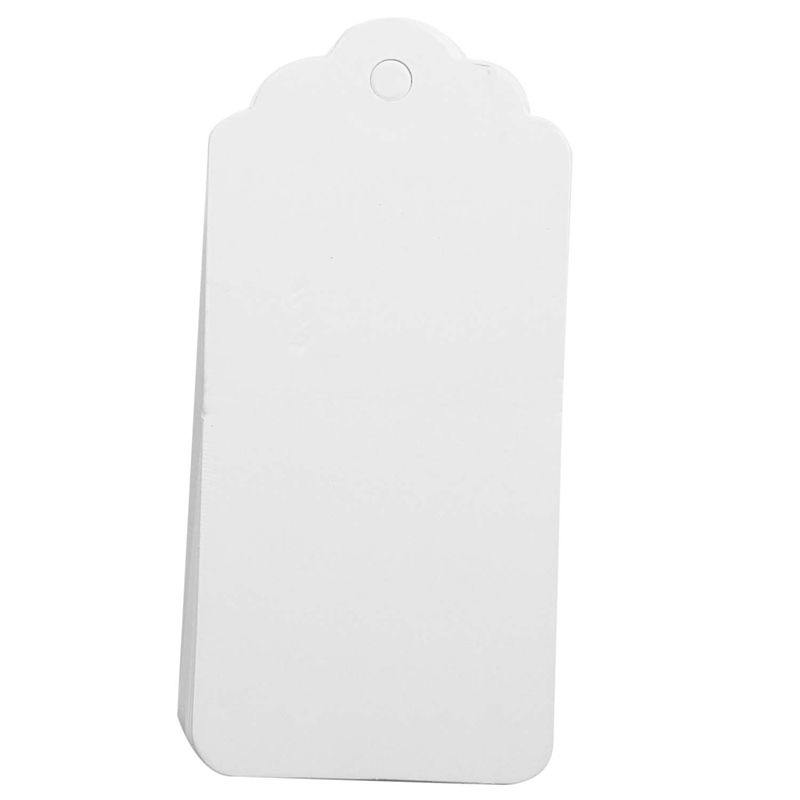 100-Scallop-Kraft-Paper-Wedding-Birthday-Gift-Tags-Blank-Luggage-Label-9X4-J5P6 thumbnail 5
