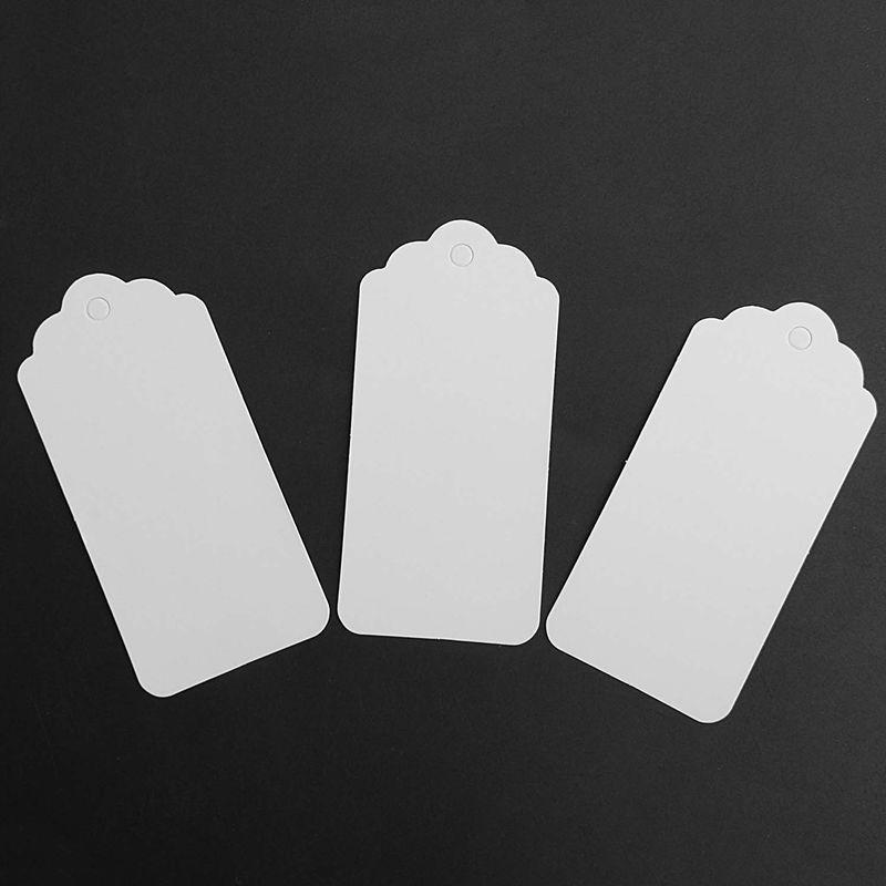 100-Scallop-Kraft-Paper-Wedding-Birthday-Gift-Tags-Blank-Luggage-Label-9X4-J5P6 thumbnail 6