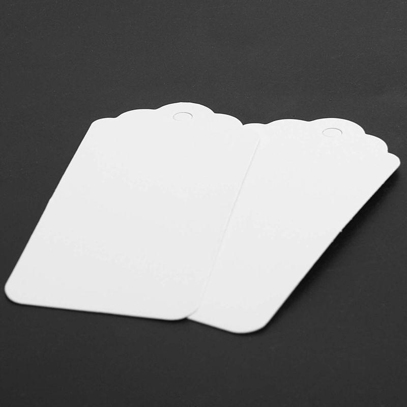 100-Scallop-Kraft-Paper-Wedding-Birthday-Gift-Tags-Blank-Luggage-Label-9X4-J5P6 thumbnail 7