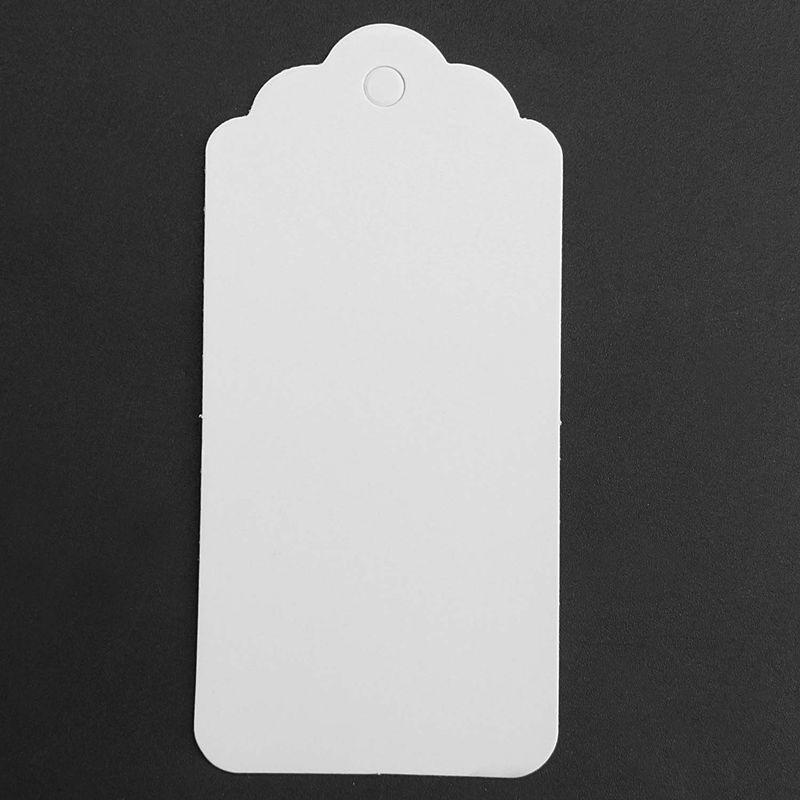 100-Scallop-Kraft-Paper-Wedding-Birthday-Gift-Tags-Blank-Luggage-Label-9X4-J5P6 thumbnail 8