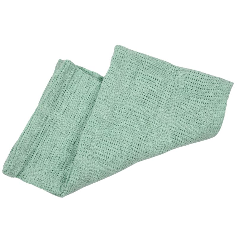 thumbnail 3 - 100% Cotton Baby Infant Cellular Soft Blanket Pram Cot Bed Mosses Basket Cr L3R8