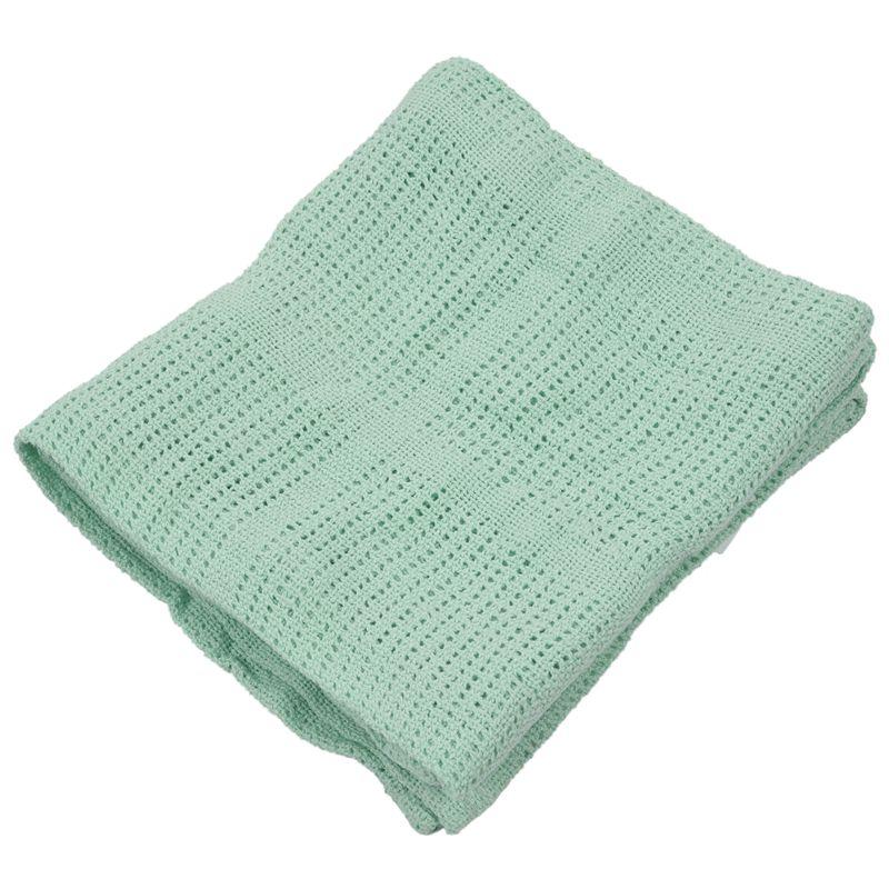 thumbnail 4 - 100% Cotton Baby Infant Cellular Soft Blanket Pram Cot Bed Mosses Basket Cr L3R8