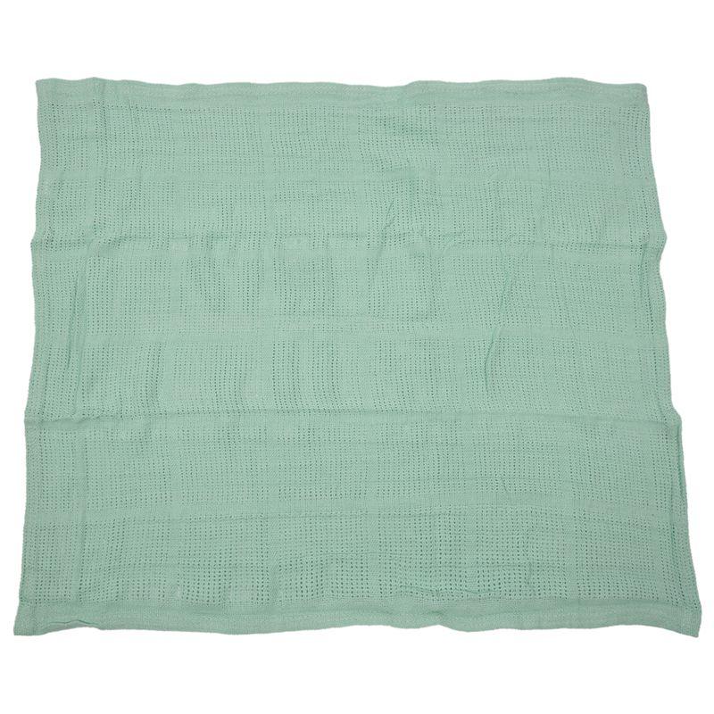 thumbnail 5 - 100% Cotton Baby Infant Cellular Soft Blanket Pram Cot Bed Mosses Basket Cr L3R8