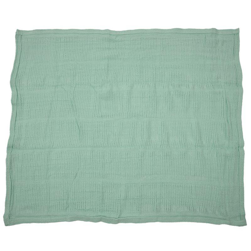 thumbnail 6 - 100% Cotton Baby Infant Cellular Soft Blanket Pram Cot Bed Mosses Basket Cr L3R8