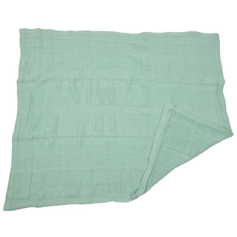 thumbnail 7 - 100% Cotton Baby Infant Cellular Soft Blanket Pram Cot Bed Mosses Basket Cr L3R8