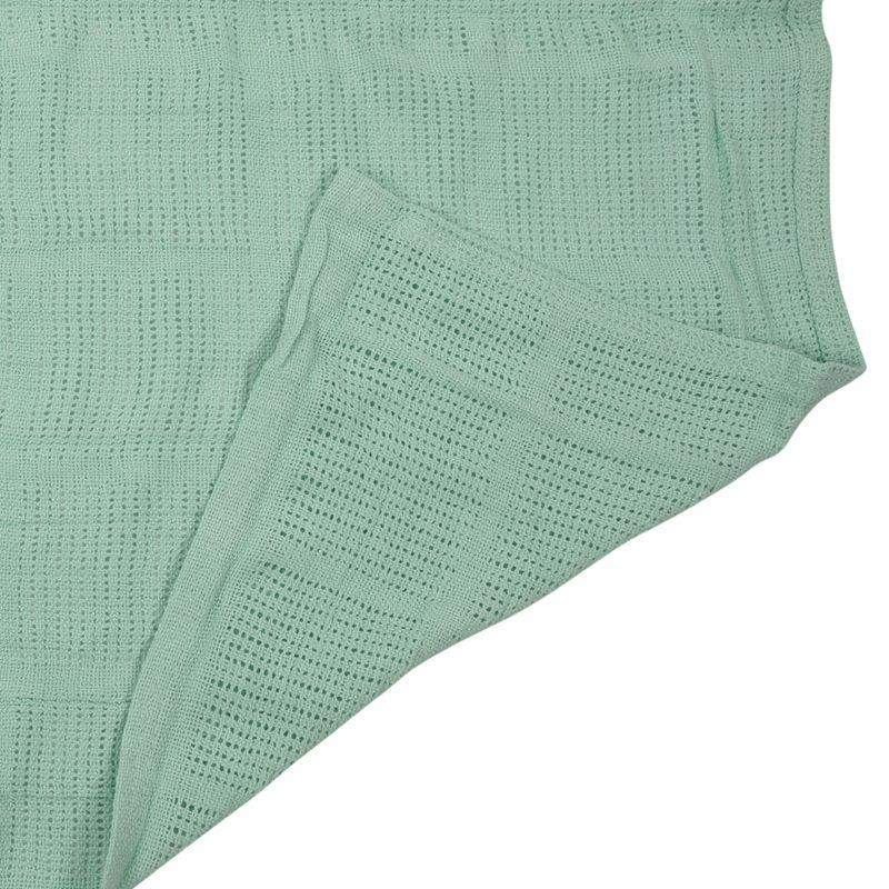 thumbnail 8 - 100% Cotton Baby Infant Cellular Soft Blanket Pram Cot Bed Mosses Basket Cr L3R8
