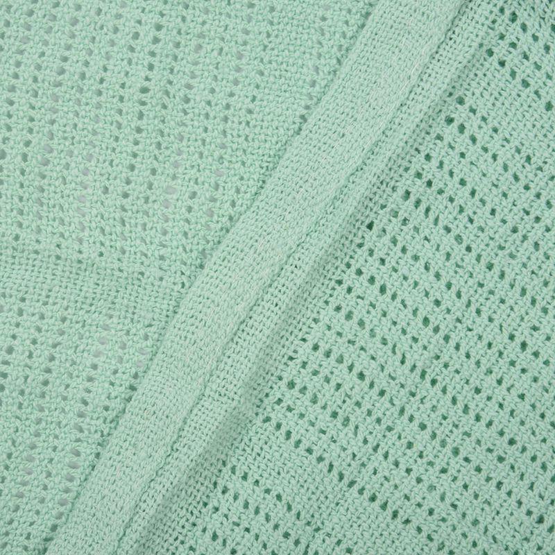 thumbnail 9 - 100% Cotton Baby Infant Cellular Soft Blanket Pram Cot Bed Mosses Basket Cr L3R8