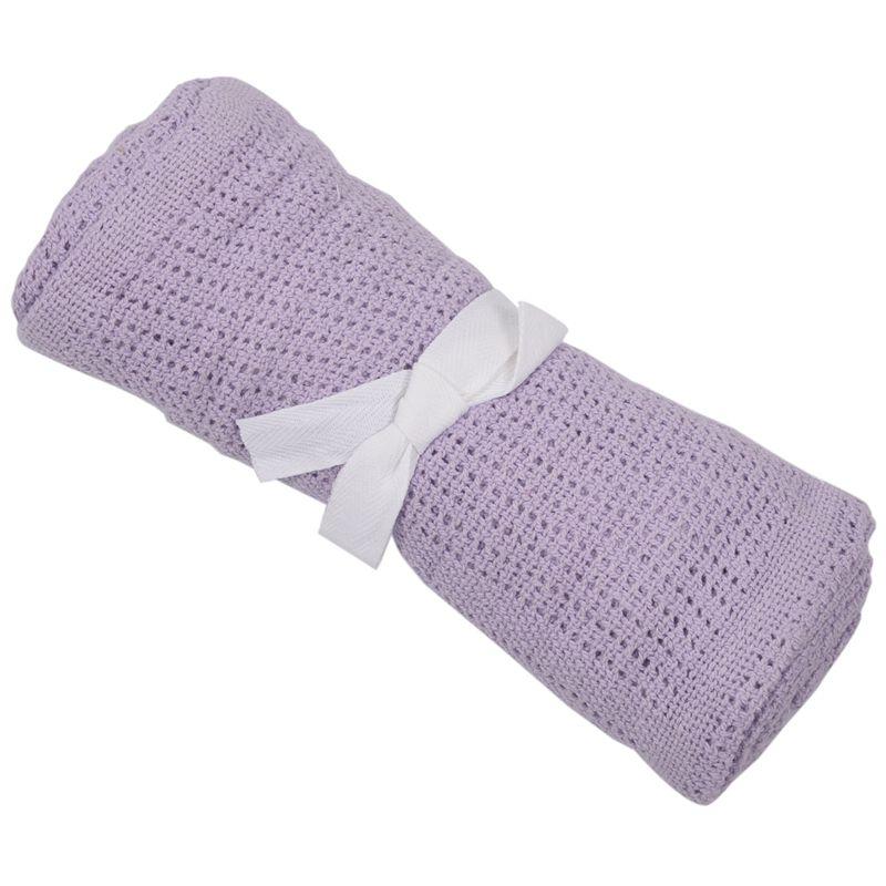 thumbnail 11 - 100% Cotton Baby Infant Cellular Soft Blanket Pram Cot Bed Mosses Basket Cr L3R8