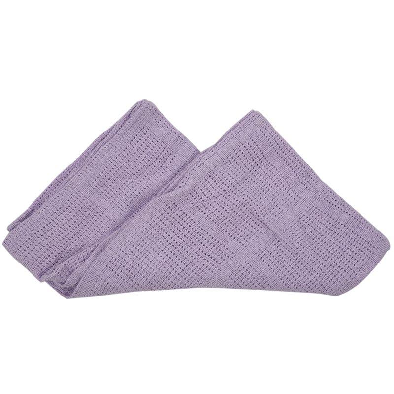 thumbnail 12 - 100% Cotton Baby Infant Cellular Soft Blanket Pram Cot Bed Mosses Basket Cr L3R8