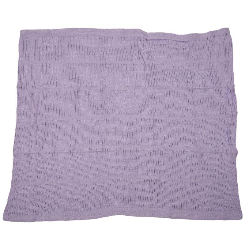 thumbnail 13 - 100% Cotton Baby Infant Cellular Soft Blanket Pram Cot Bed Mosses Basket Cr L3R8