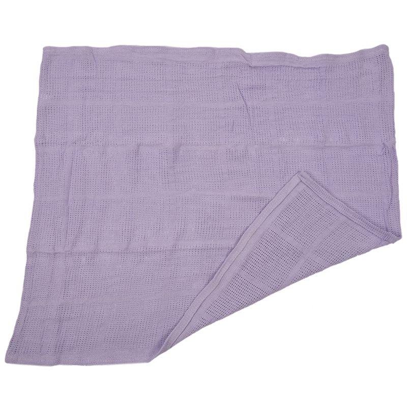 thumbnail 14 - 100% Cotton Baby Infant Cellular Soft Blanket Pram Cot Bed Mosses Basket Cr L3R8