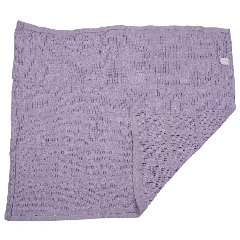 thumbnail 15 - 100% Cotton Baby Infant Cellular Soft Blanket Pram Cot Bed Mosses Basket Cr L3R8
