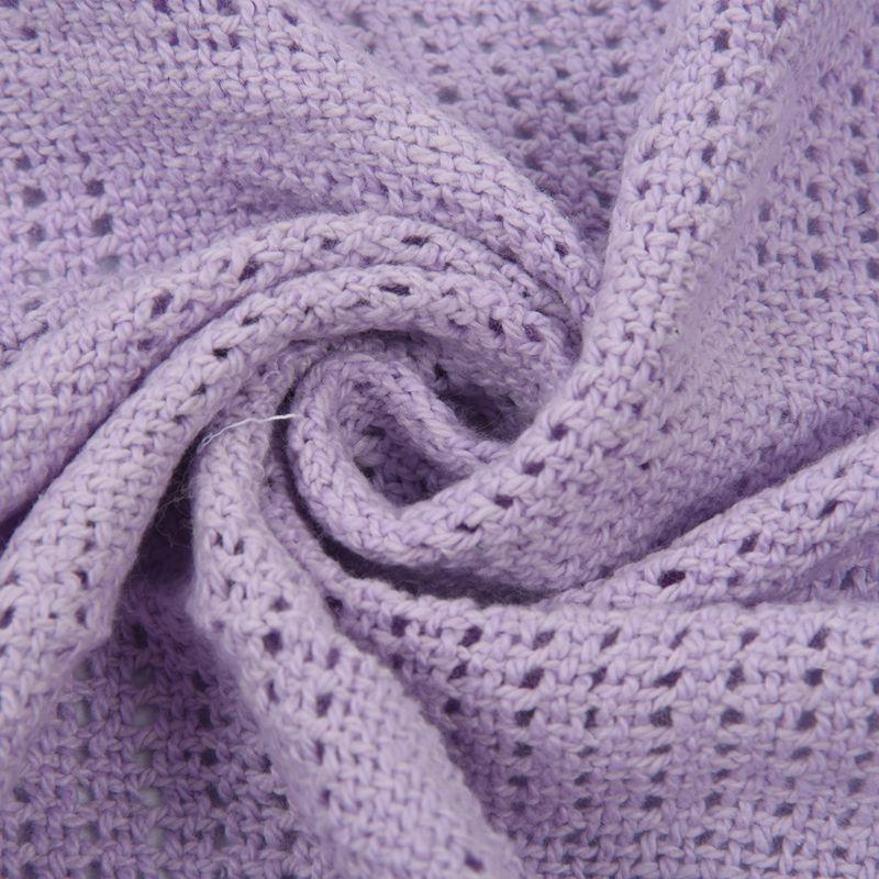 thumbnail 16 - 100% Cotton Baby Infant Cellular Soft Blanket Pram Cot Bed Mosses Basket Cr L3R8
