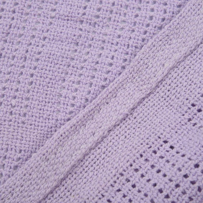 thumbnail 17 - 100% Cotton Baby Infant Cellular Soft Blanket Pram Cot Bed Mosses Basket Cr L3R8