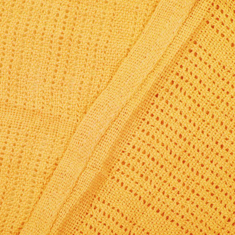thumbnail 25 - 100% Cotton Baby Infant Cellular Soft Blanket Pram Cot Bed Mosses Basket Cr L3R8
