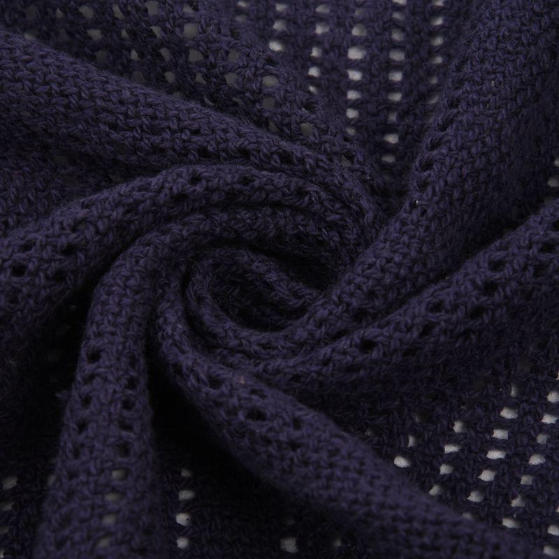 thumbnail 32 - 100% Cotton Baby Infant Cellular Soft Blanket Pram Cot Bed Mosses Basket Cr L3R8