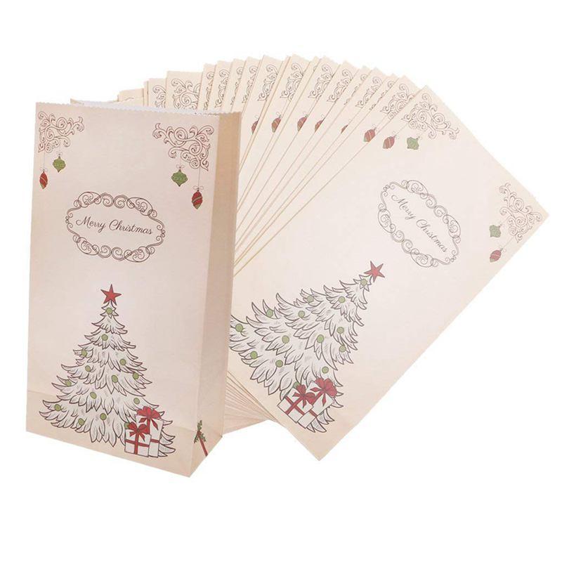 7X(Lot de 30pcs Papier Sachet Pochette a Bonbons Biscuit et Cadeau en Motif d U6