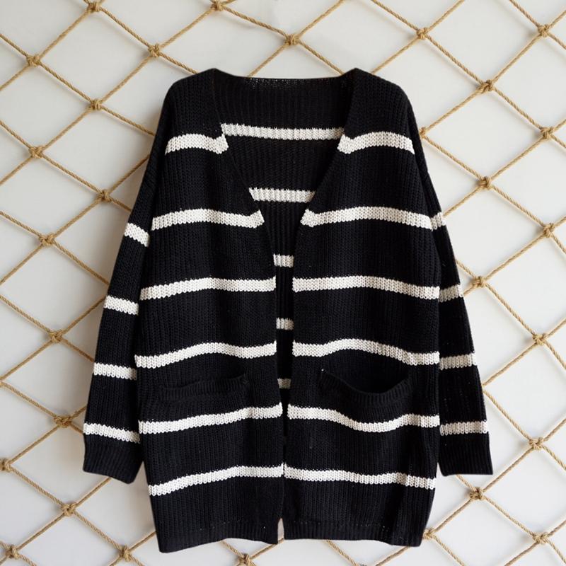 Nouveau-Pull-D-039-automne-D-039-hiver-Pour-Femme-Cardigan-A-Manches-Longues-Tricot-T2Q2 miniature 8