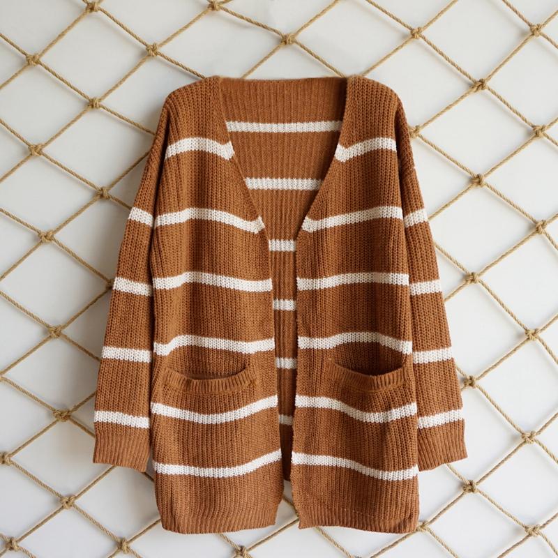 Nouveau-Pull-D-039-automne-D-039-hiver-Pour-Femme-Cardigan-A-Manches-Longues-Tricot-T2Q2 miniature 14