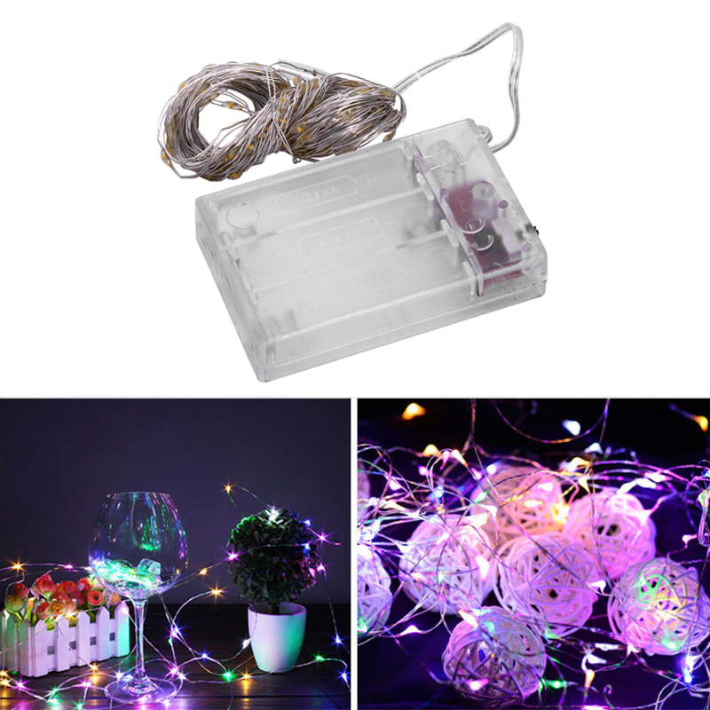 Fairy-Lights-AA-Battery-Powered-10M-100-Leds-Silver-Led-Copper-Wire-String-X7F2 thumbnail 21