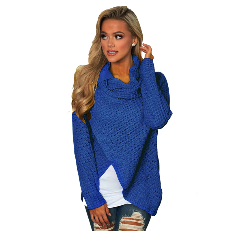 Women-Autumn-Turtleneck-Pullover-Sweater-Long-Sleeve-Elastic-Sweater-Female-V9H8