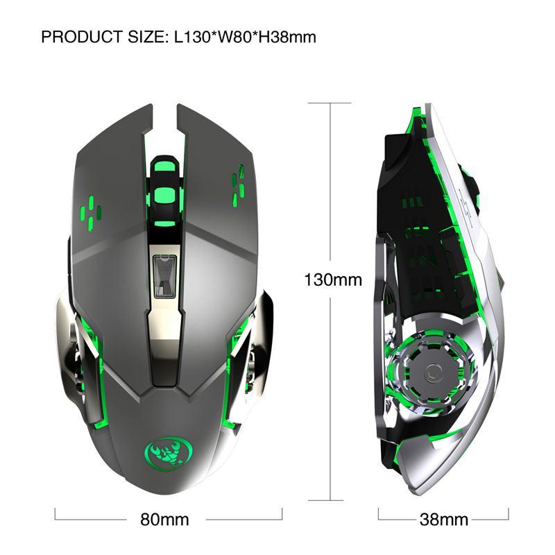 HXSJ-Nouvelle-souris-sans-fil-M70GY-2-4G-6D-coloree-sans-fil-rechargeable-Sou-38 miniature 10