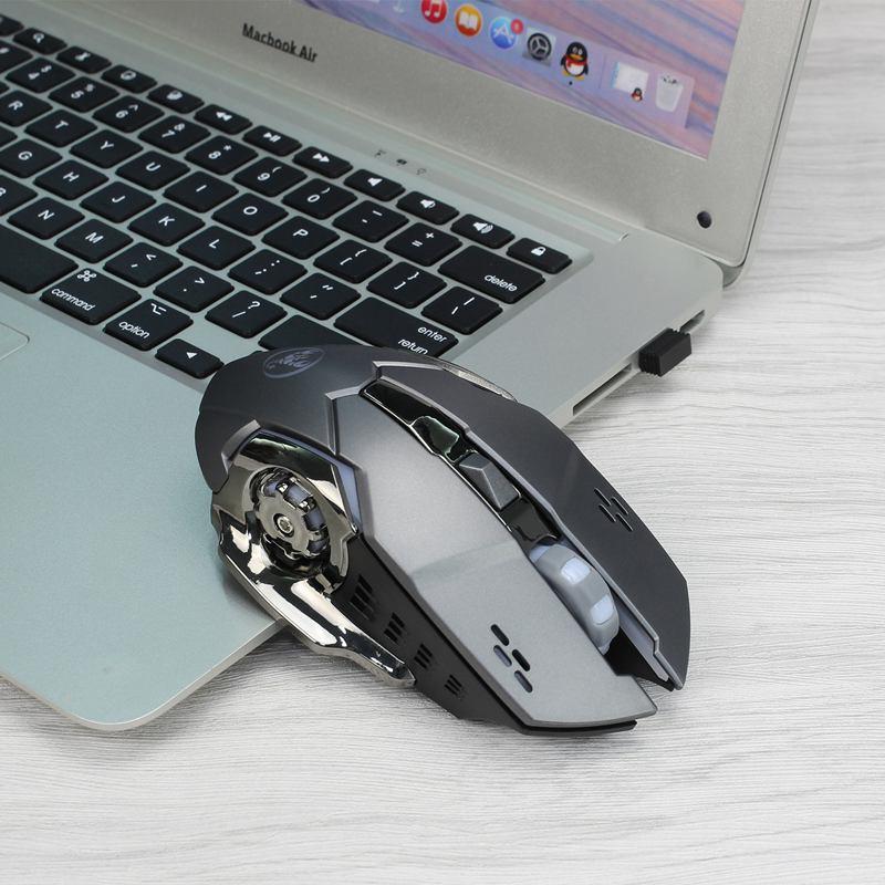 HXSJ-Nouvelle-souris-sans-fil-M70GY-2-4G-6D-coloree-sans-fil-rechargeable-Sou-38 miniature 12
