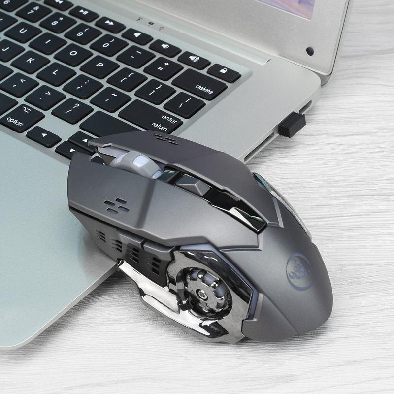 HXSJ-Nouvelle-souris-sans-fil-M70GY-2-4G-6D-coloree-sans-fil-rechargeable-Sou-38 miniature 13